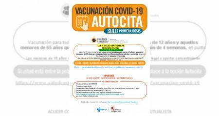 AUTOCITA 1º DOSIS 22 Y 24 SEPTIEMBRE personas no vacuandas MAYORES DE 12 AÑOS y MENORES DE65 AÑOS