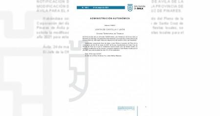 Publicación BOP de Ávila